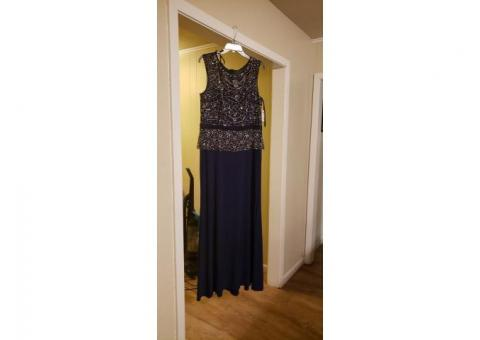 Navy blue gown. Size 16